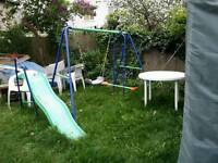 Swings + slide