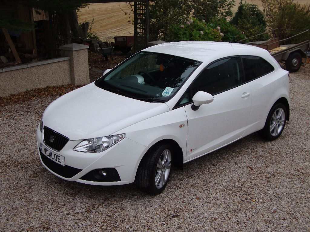 2011 seat ibiza se copa 1 4 petrol white 3 door 52 000 miles manual in banff. Black Bedroom Furniture Sets. Home Design Ideas