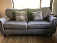 Grey fabric sofa 3+1+1 good as new