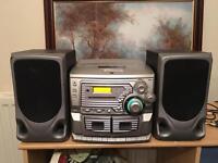 Dual Hifi, 3 cd player, radio & tape