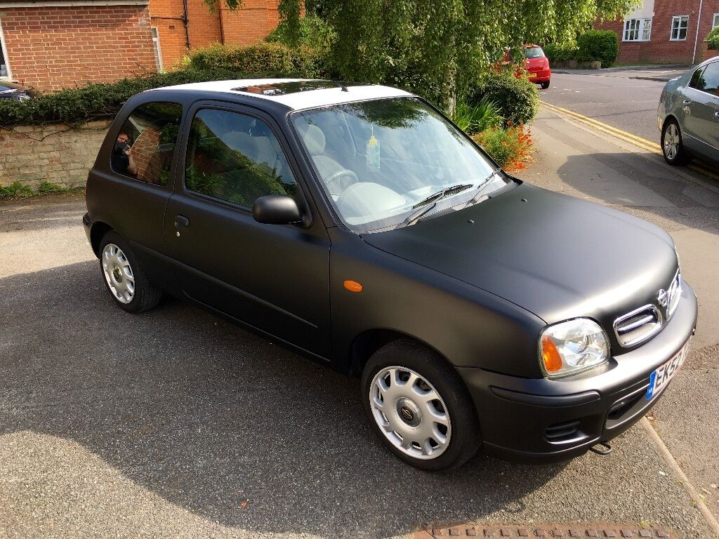 nissan micra 1 0 black matte low mileage in bournemouth. Black Bedroom Furniture Sets. Home Design Ideas