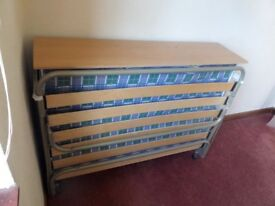 Fold out double guest bed. Excellent condition.