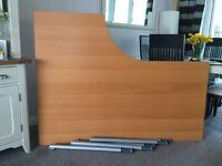 Ikea desk with adjustable legs.