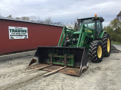 2012 John Deere 6115d 4x4 Farm Tractor W Cab Loader Clean Only 4300hrs