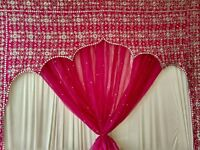 embroider arch with organza curtain