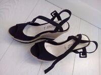 Black Wedges - UK Size 7 / Euro 40 - Never worn