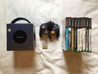 Nintendo GameCube including 9 games plus memory card, controller and all necessary cables