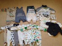 Newborn baby boys clothes bundle