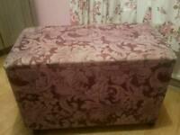 Fabric ottoman / blanket box