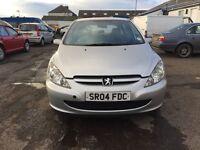 04 plate Peugeot 307s petrol, mot 19 June 2017, new exhaust, brake pads, 2 owners