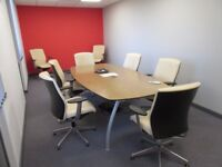 Meeting room table and 8 chairs
