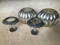 Candle holders, lanterns, silver