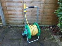 30m hose, hose reel, adjustable nozzle
