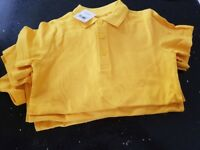 4 yellow next polo shirts.age 5never been wornbought them as spares for my sons nursery
