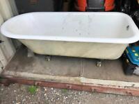 Vintage roll top bath