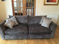 Modern, almost new, immaculate sofa, love seat and swivel chair - Andersons of Inverurie