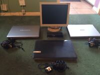 Laptops, monitor, I pad