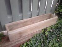 ****NEW GARDEN FLOWER PLANTERS/WINDOW BOX, treated wood, many sizes/colours. quality handmade****