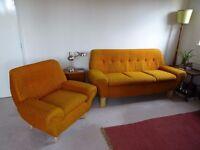 Original 70's 2 piece suite for sale