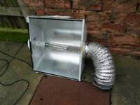 Power plant aerowing air cooled reflector 600w ballast grow light