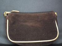 A lovely small brown velvet bag
