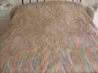 JOHN LEWIS QUILTED BEDSPREAD/THROW + matching curtains