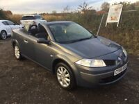 2006 RENAULT MEGANE CONVERTIBLE IN VGCONDITION LOW MILEAGE NEW BRAKES ALL ROUND LONG MOT PX WELCOME