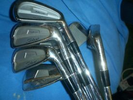 Titleist 735cm golf irons steel rifle shafts