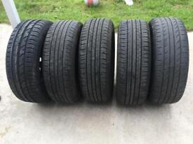 5 Tyres and Rims Size 195/55 R15