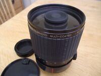 Pentax K mirror lens - Sigma 600mm 1:8