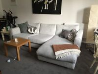 Grey corner sofa - only 18 months old - GBP 200