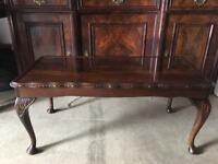 Dark Solid Wood Coffee Table VGC
