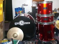 Gear4Music Drum Kit & Hi-Hat cymbals