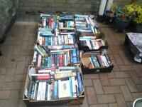 boxes of ficton & non books for sale