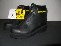 Brand new, in box, safety shoes, work boots. Size 6