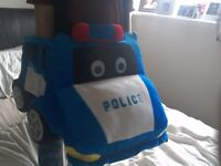 Worn once, police car dressing up outfit
