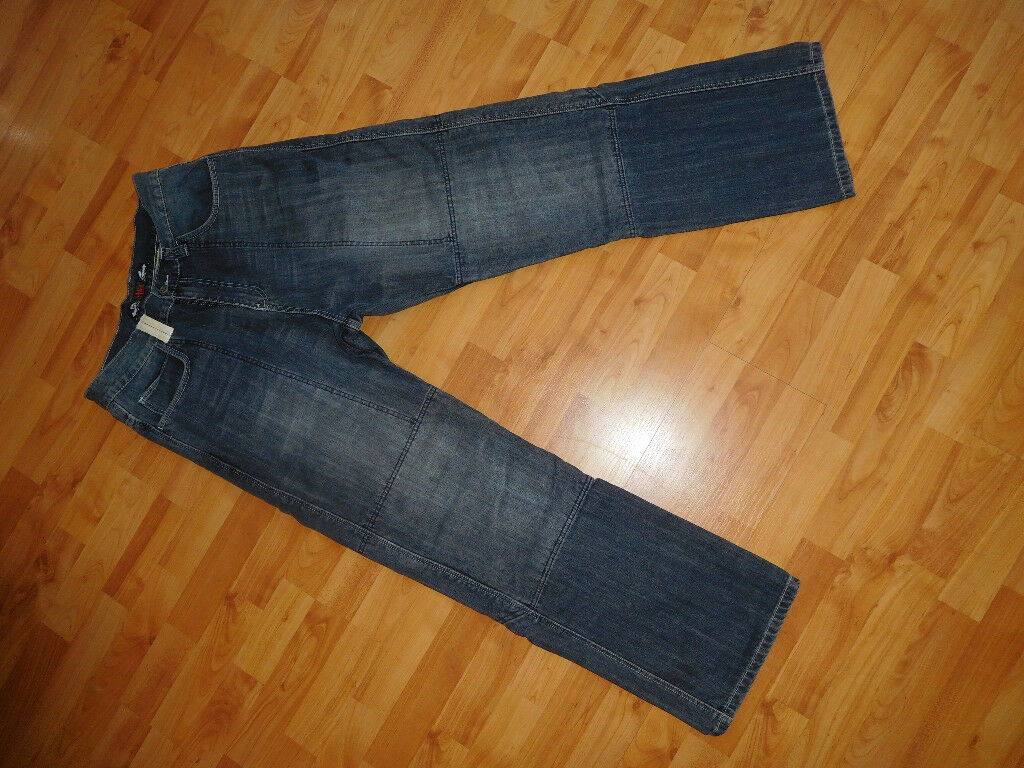 "Motorcycle / Motorbike Jeans 34"" (32""leg) Kevlar Lined Sartso Brand"