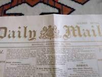 Daily Mail 1900 Millennium newspaper