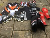 Full roller hockey equipment ****only used 3 times