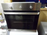 """Beko""Stainless steel 60cm integrated electric grill & fan oven.. Can be delivered..."