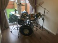 Premier drum kit - 6 piece complete with Cymbals, stool, sticks and cases