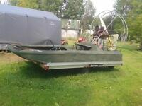 rice picking boat and trailer