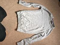 Grey men's medium crew clothing jumper