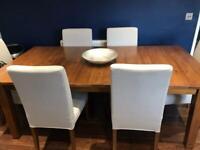 Oak colour dining table