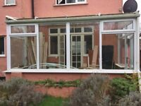 FREE! Conservatory windows, door and plastic roofing - for dismantling and collection