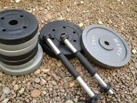 Weight plates and dumbbells. 47.5kg