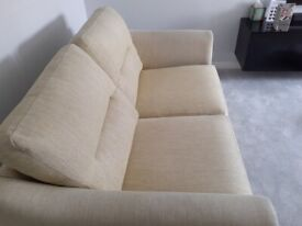 2 Seater sofa light green well made by Alstons in good condition