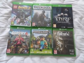 xbox one games x6 all in excellent condition