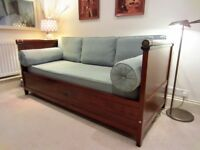 French Trundle Bed. Aqua Sofa Converts to Confortable Double Bed. To be Collected From Earl's Court.