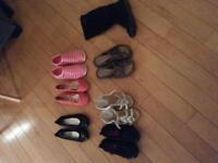 Lots of summer shoes/sandals